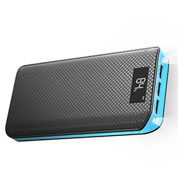 Taşınabilir 24000 mAh Güç Bankası 3 USB LED Işık Yedek Pil Şarj iphone X 8 Samsung Yüksek Kalite