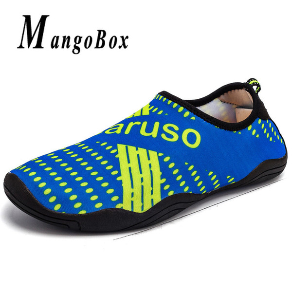 Men Shoes for Swimming Blue Black Adult Diving Shoes Weight Light Beach Water Mens Breathable Footwear Plus Size 45 46 47
