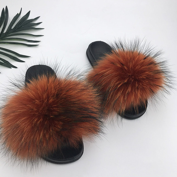 Raton laveur slippers_14 fourrure