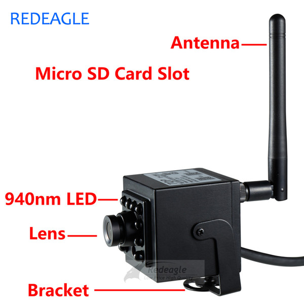 720P P2P IP Camera WiFi Wireless CCTV Network Recording Camera With 940nm IR Invisible Night Vision Memory SD Card Slot
