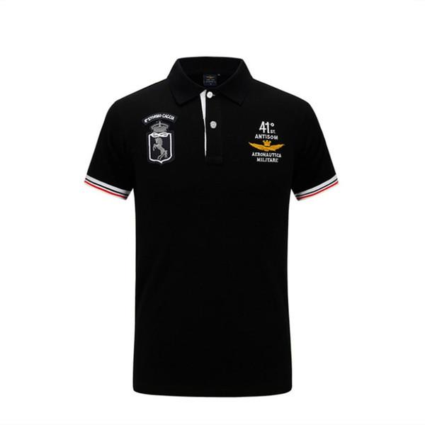 Diseñador de camisas de polo para hombre de moda de manga corta Tops delgados hombres bordado camiseta Turn-down Collar ropa S-4XL