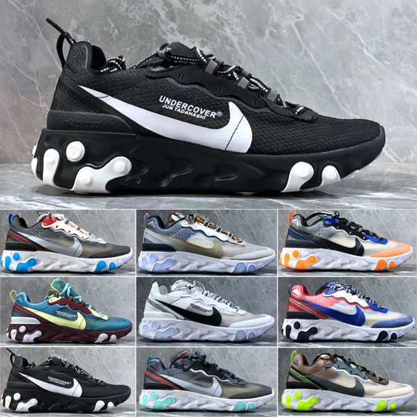 Casual Shoes Hot Original Undercover Breathable mesh yarn Women Mens Free ship Size US 5.5-11 React Element 87 C-PPN