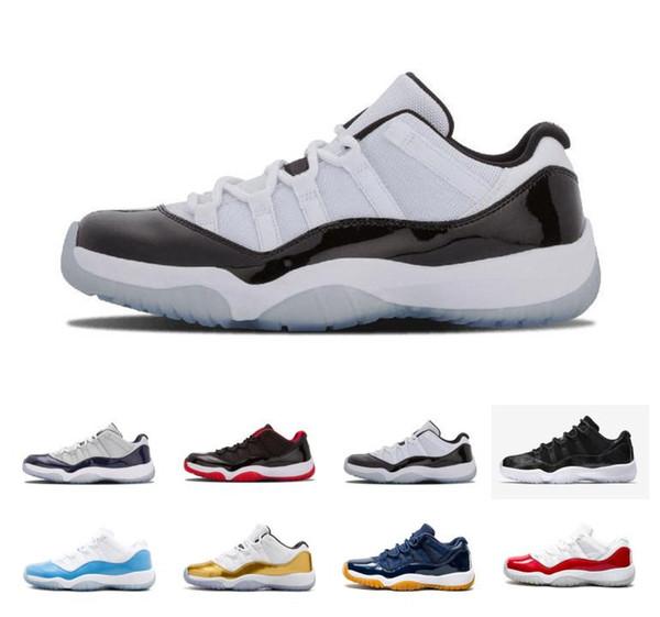 Scarpe basse Concord 45 11S XI Platinum Tinta di pallacanestro degli uomini 11 Bred Space Jam cappello e abito PRM sport scarpe da tennis degli Stati Uniti 7-13