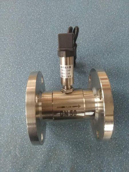 Flujómetro de turbina de líquido / sensor / transmisor / LWGY-40 medidores de flujo con bridas de salida NPN señales de contacto con PLC