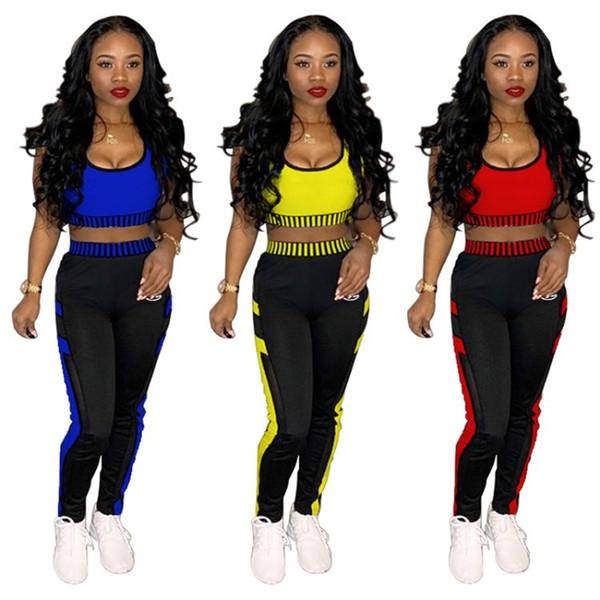 Agasalho das mulheres sportswear trajes Two piece set Jogging Sports sem mangas compridas shorts Ternos Mulheres Sportswear sexy mulheres roupas klw0991