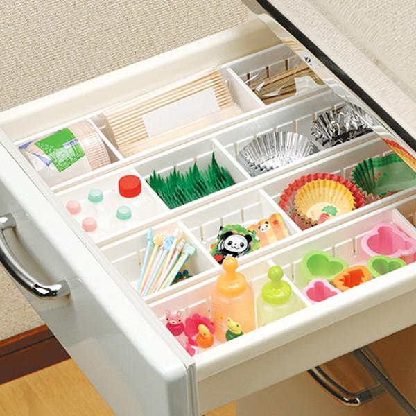 Aufbewahrungsbox DIY Freie Trennung Schublade Organizer Home Küche Bord Teiler Schutt Finishing Korb Zellen Geschirr