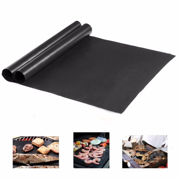 2 -piece 40x30x0,02 Cm Non -stick Bbq Grill Matter Baking Matte Teflon Cooking Grill Heating Sheet Resistance Lightly Cleaned Kitchen Tools