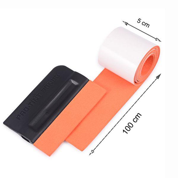 Скребок Foshio углеродное волокно виниловая упаковка Squeegee запасная замшевая ткань ткань для автомобильной обертывания