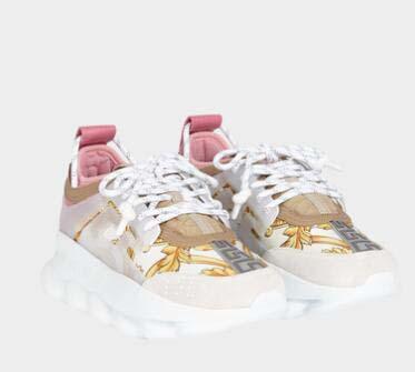 Lates Renk! Tasarımcı Zincir Reaksiyonu Erkekler Günlük Ayakkabılar Kadınlar Spor Eğitmenler Moda Yükseklik Casual Ayakkabı Sneakers Km09 Artırma