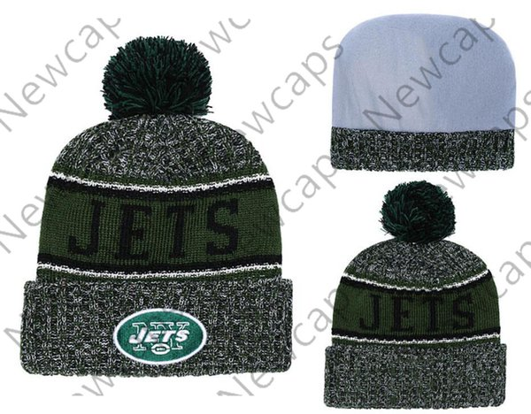 6ccd55738a852b Wholesale New York Sport Winter Hats Jets Stitched Team Logo Brand Warm Men  Women Hot Sale Knitted Caps Cheap Mixed Beanies