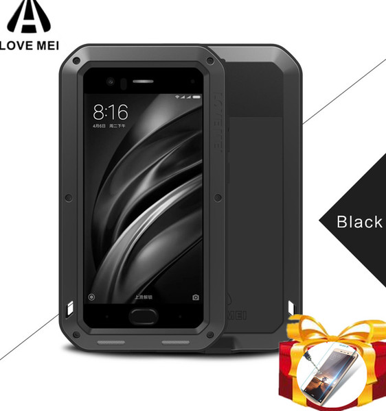 new style ef4c1 6e90e Gorilla Glass Powerful Waterproof Case For Xiaomi Mi Max 3 Max 2 Mix 2s 2  Phone Cover For Xiaomi Mi6 Mi8 Metal Aluminum Case Design Cell Phone Case  ...