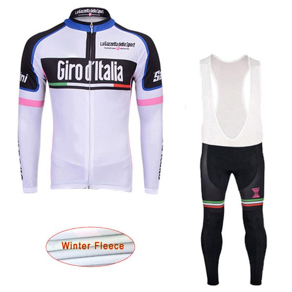Tour De Italy Team Winter Thermal Fleece Cycling Jersey Bib Pants Sets Man Brand New Mtb Wear Bike Clothing Ropa Ciclismo Hombre