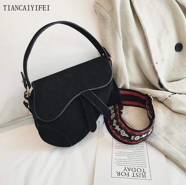 Usine femmes gros sac à main nouvelle bandoulière sac à bandoulière en cuir brossé couleur sac de selle rétro brossé large des femmes sac de messager