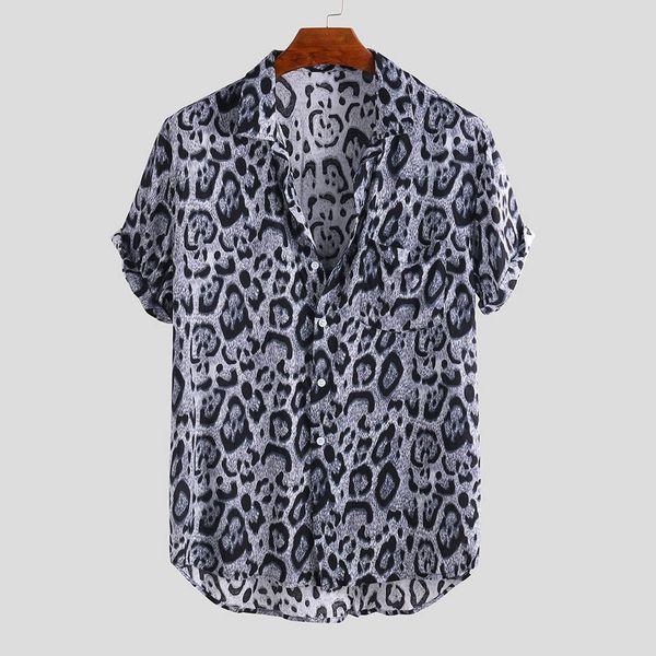 CONEED Мужская Гавайская Рубашка Пляжная Летняя Рубашка С Коротким Рукавом Мужская Брендовая Одежда Повседневная Свободные Camisa Masculina Плюс Размер May30