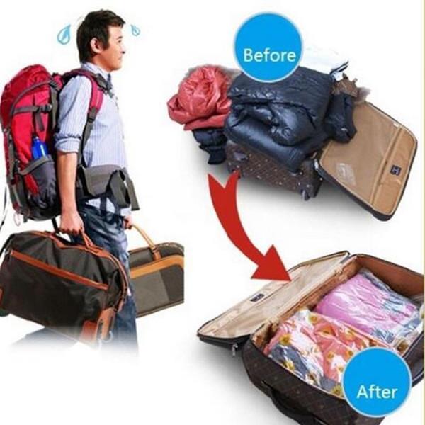 1PC Space Saver Saving Storage Vacuum Seal Compressed Organizer Package Bag Vacuum Bags For Clothes Quilt Bathroom Tools ca190 C18112801