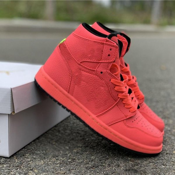 hydro I 1 High Hot Punch New AQ9131-600 Basketball Shoes Designer Mens women Shoes quality 1s sneakers shoes fashion With double Box