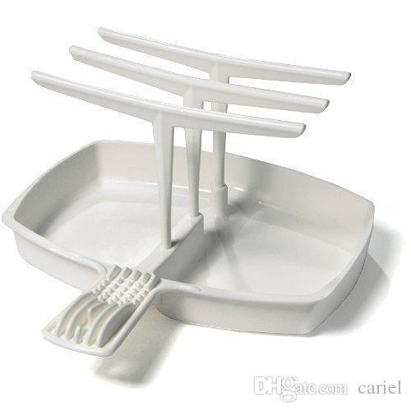 Cariel Pancetta Fornello Makin Bacone Microonde Pan verticale Hanger barra di accesso rapido e facile Bacone Maker DHL wn097B