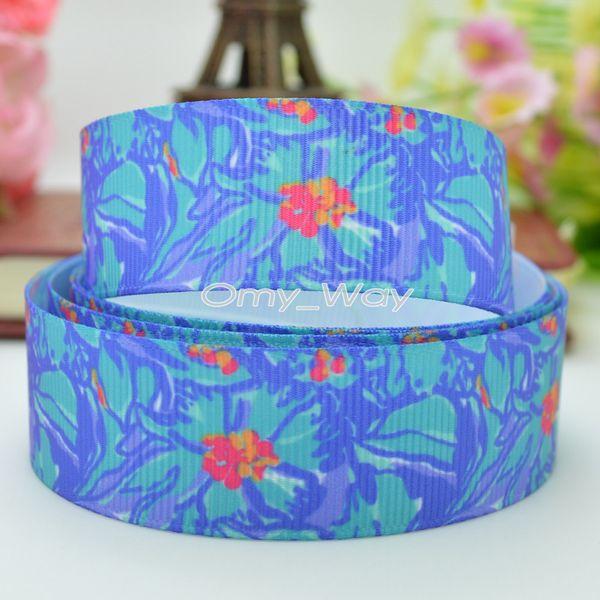 "Lilly Ribbons 7/8"" 22mm Printed Grosgrain Ribbon Hair Bow DIY Handmade Crafts Ribbon Print 50Yards C-2438"
