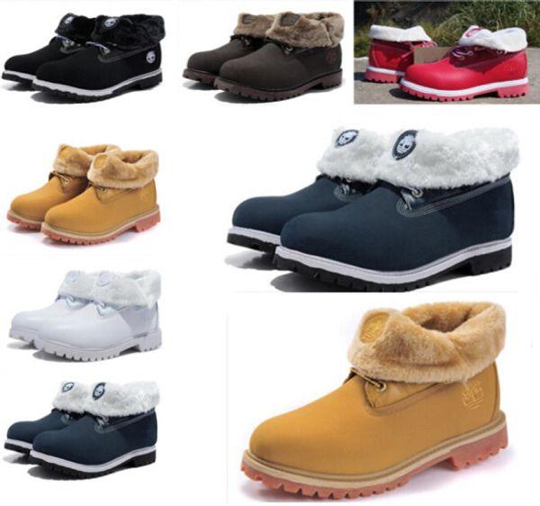 TIMBERLAND Botas de Neve Branca Marca Dos Homens Das Mulheres de Couro Genuíno À Prova D 'Água Botas Ao Ar Livre Sapatos De Caminhada De Couro Lazer Ankle Boots
