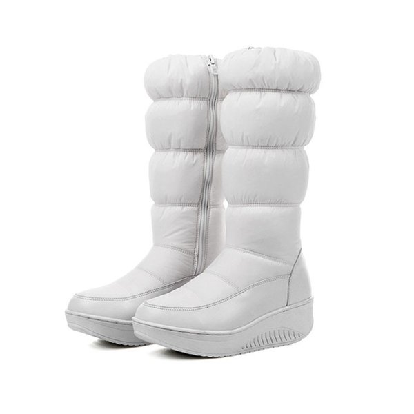 Dress Shoes Winter Warm Women think Over-the-knee Zip Snow Boots Rount Toe Wedge heels platform Zipper boot Women's winter boots.HX-88