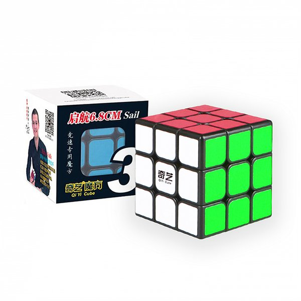 QIYI Professional 3x3x3 6.8CM Speed For Magic Cube Puzzle Neo Cubo Magico Sticker For Children Adult Education Toy