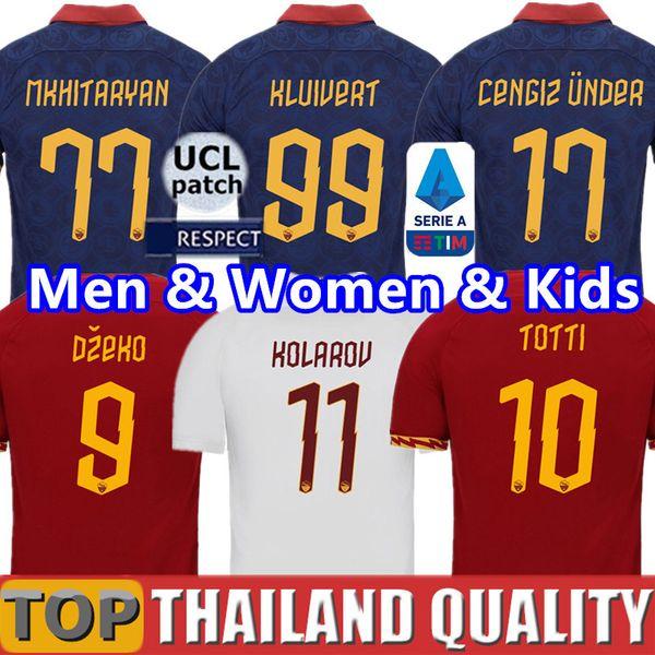 2019 AS Roma DZEKO PEROTTI PASTORE ZANIOLO Futbol formaları 19 20 TOTTI DE ROSSI Rome futbol forması seti 2020 erkekler çocuklar seti üniforma