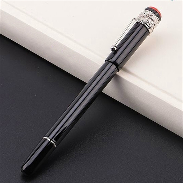 top popular high quality black - red metal spider Clip Ballpoint pen   Roller ball pen fine office stationery fashion calligraphy ink pens 2021