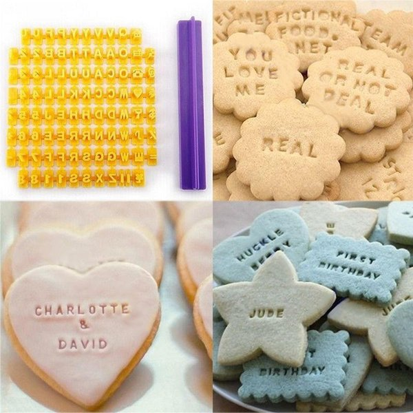 akeware Cake Tools Hoomall DIY Baking Tools Cookie Stamp Biscuit Cutter Number Alphabet Fondant Cookie Cake Mould Cutter Decor Kitchen Ac...
