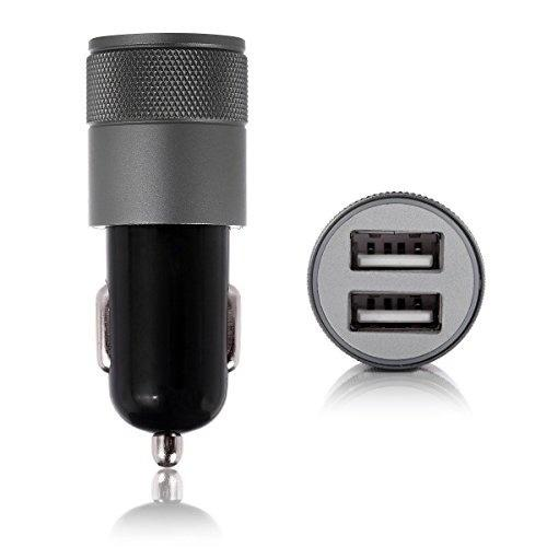 car charger Dual USB Car Charger Metal mobile phone charging phone chargers Universal 2.1V small steel barrel Car pohne for iphone x xiaomin