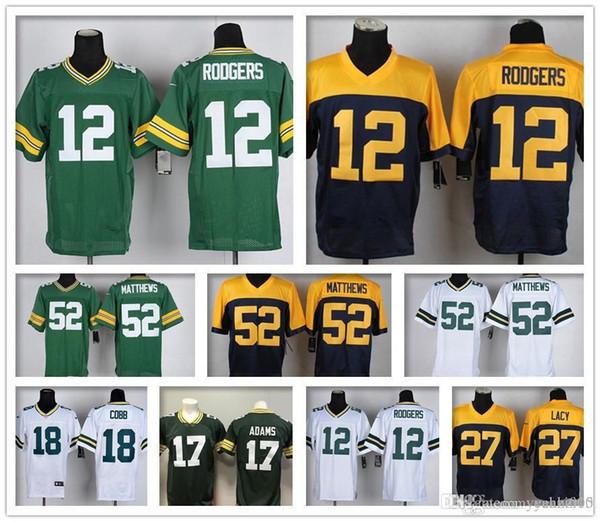 super popular 9b419 3becf 2019 Men Green Bay Packers Jersey Women Youth Kid 27 Eddie Lacy 52 Clay  Matthews 12 Aaron Rodgers American Football 17 Davante Adams Jerseys From  ...