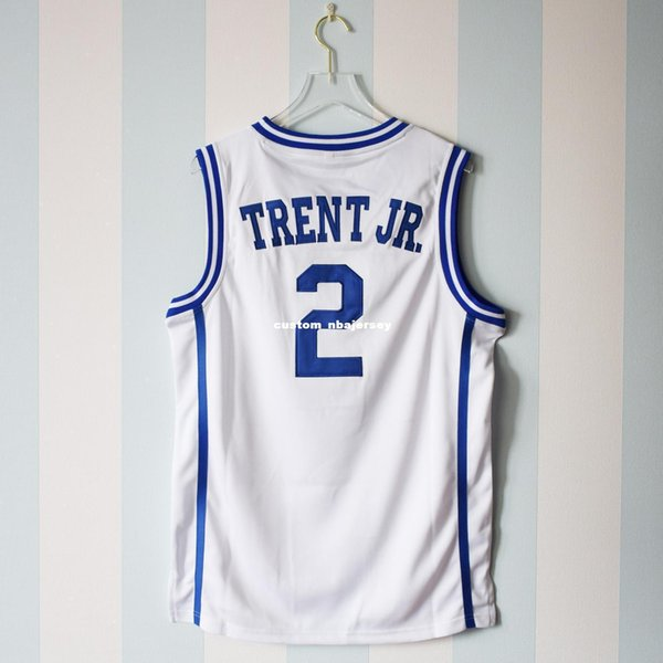 Cheap custom Gary Trent Jr. #2 Jersey Duke Blue Devils Basketball White Jersey Stitch customize any number name MEN WOMEN YOUTH XS-5XL