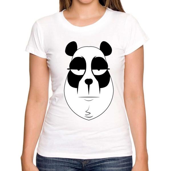 New Funny Panda Print T shirt Women Cool Punk Animal Fashion Short Sleeve T-shirts for women Cute Tops Tees