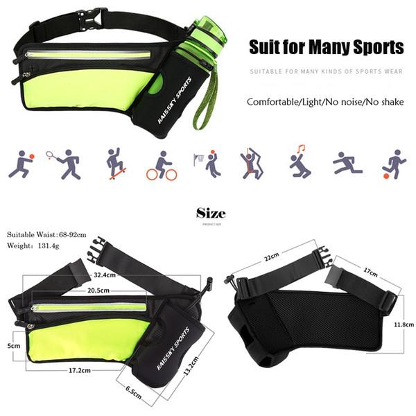 3c3de3d403c2 2019 Running Marathon Waist Bag Sports Climbing Hiking Racing Gym Fitness  Lightweight Hydration Belt Water Bottle Hip Waist Pack #42646 From ...