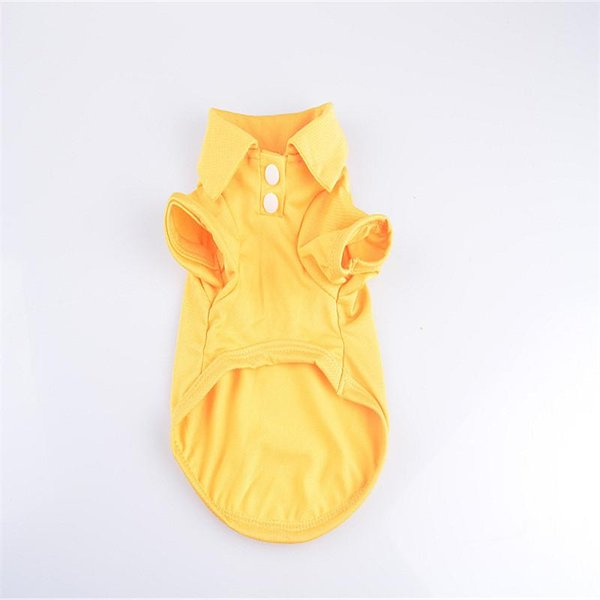 SF Fashion Dog Polo Shirts For Spring Summer Colorful Pet Clothes Poromeric Material For Small Baby Pet Easy Washing Factory Price