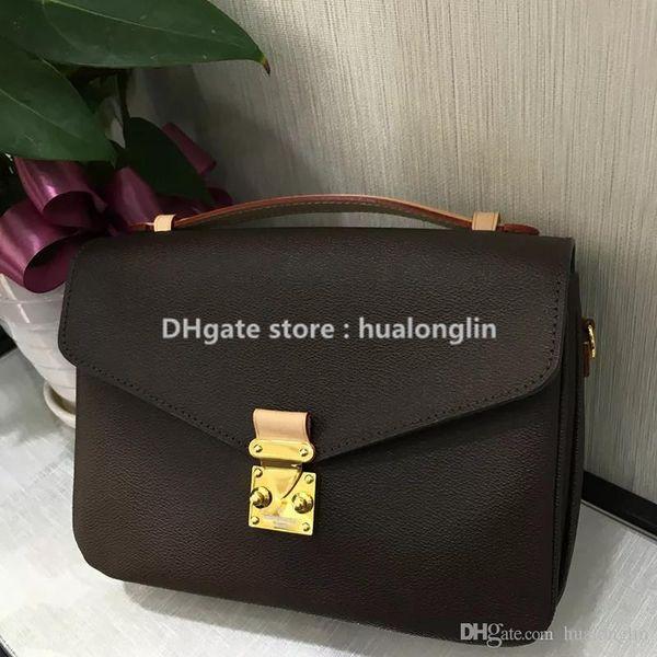 Sale Discount Quality Women Bag Handbag Shoulder bag Genuine leather handle brand designer 40780 floral letters checkers plaid
