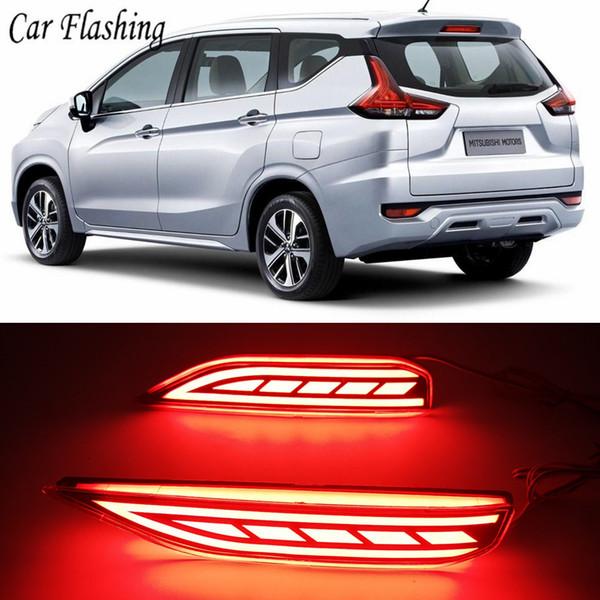 Auto blinkt 1 Paar Heckstoßstange Licht Lampe LED Heckstoßstange Reflektor Bremslicht Lampe für Mitsubishi Xpander 2017 2018 2019