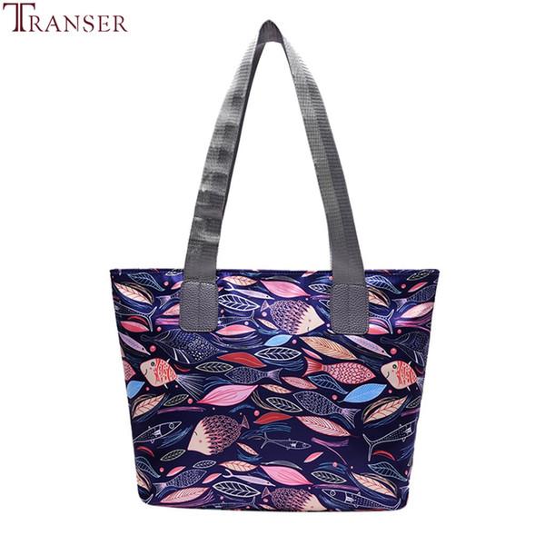 Transer modo delle signore borse panno Canvas Tote Bag Dark Forest Stampa Shopping Viaggi Donne Eco riutilizzabili Spalla Shopper Bags