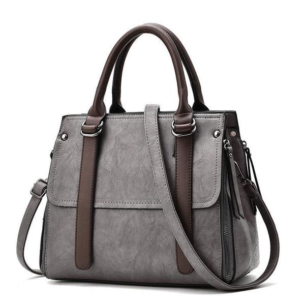 buena calidad Marcas Bolsos para mujer Bolsos de diseñador de alta calidad Pu de cuero Bolsos de Crossbody de cuero de la PU 2019 Solid Pack Mujer-bolso Compra en línea