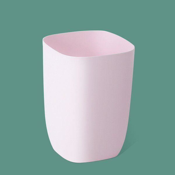 pink-layer trash can