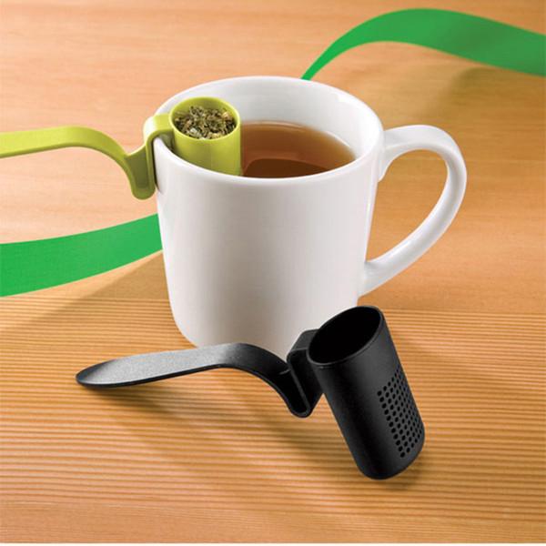 Silikon Teebeutel Infuser Loose Leaf Sieb Löffel Wiederverwendbare Tee Infuser Löffel Teesieb 3 Farbe LJJK1823