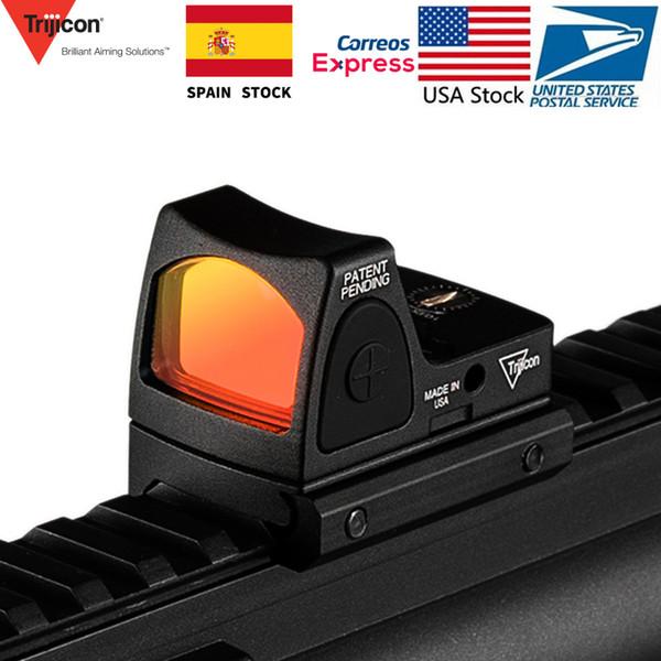 2019 Mini RMR Red Dot Sight Collimator Rifle Mirino Reflex misura 20mm Weaver Rail Per Softair / caccia Fucile / Pistola