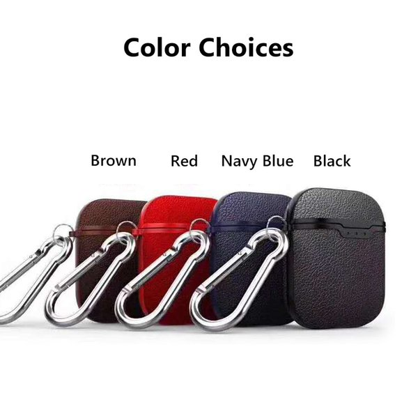 Wholesale For Apple Airpods Cases Protective Cover bat Eyes TPU Leather Hook Clasp Keychain Anti Lost Earphone Cases