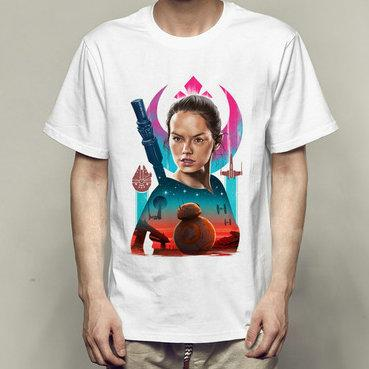 Rey t shirt Daisy Ridley short sleeve gown tops First order unisex fastness tees Colorfast print clothing Pure color modal tshirt