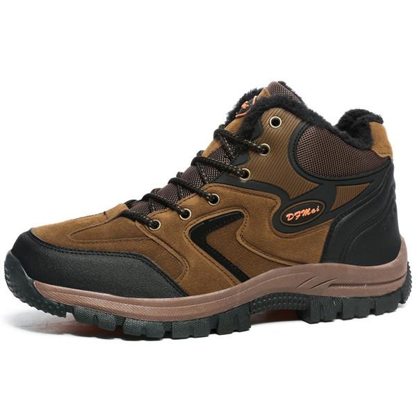 2019 новые мужчины кроссовки водонепроницаемые кожаные ботинки альпинизм рыбалка на открытом воздухе большой размер 48