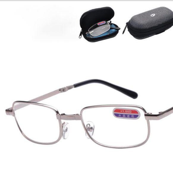 Occhiali da lettura pieghevoli Occhiali da lettura in metallo con custodia Convenienza in tasca Occhiali da lettura di buona qualità KKA6437