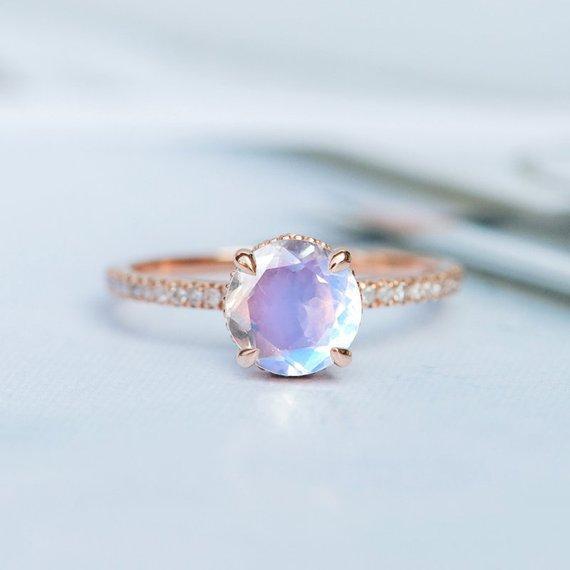 Mode einfache rose gold ring eingelegten leuchtenden stein dame schmuck hersteller direkt grenzüberschreitende schmuck größe 6-10