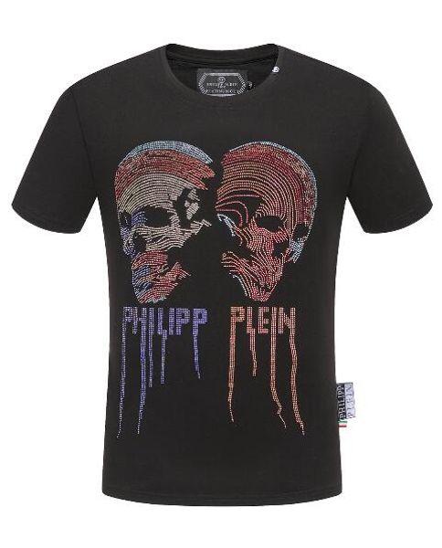 1b80c7454 2019 Summer Fashion New Arrival Men's Round-Neck Short Sleeve T-shirt Print  Skull