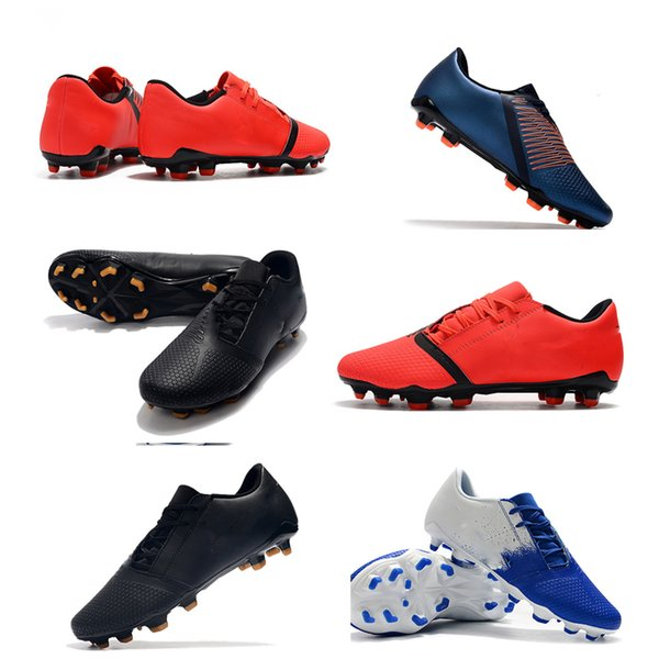 2019 new delicate l mens soccer shoes phantom vsn elite df sg-pro anti clog soccer cleats phantom vision football boots fashion calcio hot