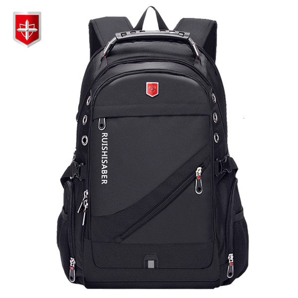 Oxford Swiss 17 Inch Laptop Backpack Men USB Charging Waterproof Travel Backpack Women Rucksack Male Vintage School Bag mochilaMX190905