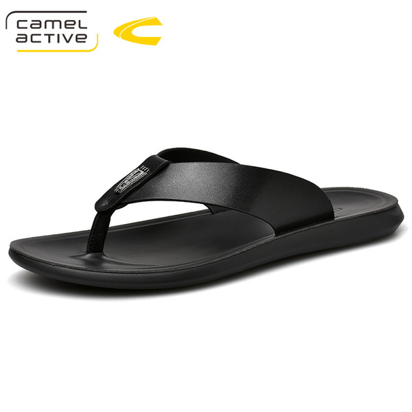 Camel Active 2019 New Arrival Summer Men Flip Flops High Quality Beach Sandals Non Slip Male Slippers Zapatos Hombre Casual Shoe Fringe Boots Girls